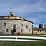 famous round barn, prettier outside than inside