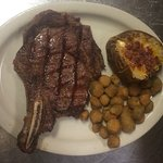 Our fresh steak from open flame to your table.  50.oz and bone in ribeyes