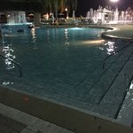 Evening at the Cascades pool