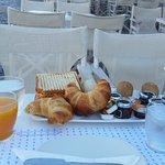 Breakfast with fresh juice