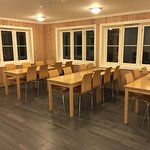 The communal kitchen & dining area