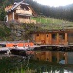 Sauna mit Teich