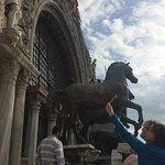 Famous bronze horses (originals are inside the museum)