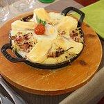 Plat du jour : caquelon au fromage/lardons