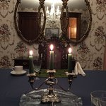 Candlelight breakfast with attentive service and luxurious table settings. Each plate is artfull