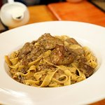 Pasta 'Paradiso' with foie gras and truffles