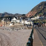 From Sidmouth seafront. Hotel in the distance.