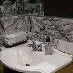 Hand basin in men's lavatory
