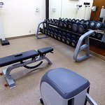Fitness center with all the necessary free weights