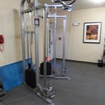 Fitness center with weight type workout machine
