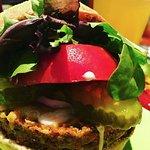 Veggie burger closeup