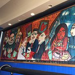 Mural by our table.