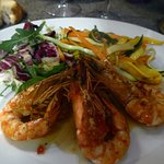 Gambas et coquilles St-Jacques