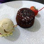 Moelleux au chocolat et glace vanille