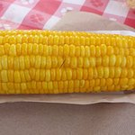 Corn on the cob is a must when visiting the pumpkin patch and corn maze. Delicious!