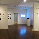 Main exhibit space - with show on modern residential architecture