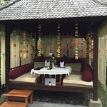 Our cabana decorated for the Royal Cabana Rendezvous dinner