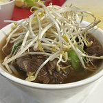 Slow cooked beef noodle soup