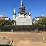 General Jackson still sits high on his horse in front of St. Louis Cathedral in New Orleans