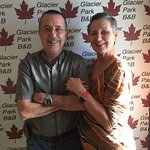 Your hosts, Bill and Deb in Front of the new GPBB Banner
