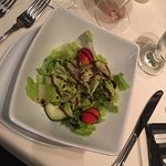 Calf liver with the starter salad. Both wonderful!
