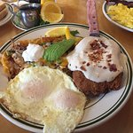 """Chicken fried steak, eggs over easy, and """"super spuds."""""""