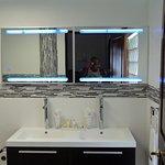 1 of 2 full bathrooms in the presidential suite
