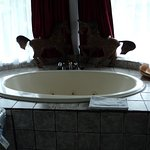 Jacuzzi in the presidential suite
