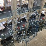 view inside the atrium of the library