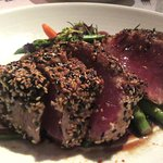 Seared Ahi with Vegetables, Sir Winston's Restaurant, Queen Mary, Long Beach, CA