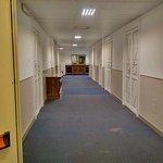 Uno dei corridoi del primo piano