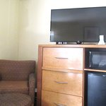 Chair, TV, Microwave, Refrigerator Unit, BW Plus Ontario Airport, Ontario, CA