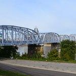 The purple people foot bridge linking Newport to Cincinnati