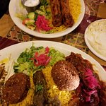 veggie Combo and Chicken dish