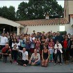 Photo de tout le groupe, une première