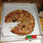 pizza tres petite pour la taille de la boite et surtout par rapport au prix!