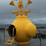 This Yellow Submarine type installation is between Rockheim and the train station.