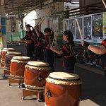 Waiting at train station treated to Taiko Drummers! Nakanojo, Japan