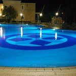 Pool at the night time