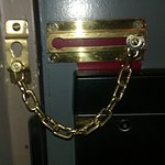 Door security chain fitted back-to-front!!!!
