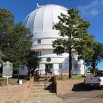 One of the three large telescopes on the Mountain