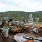 Blick vom Frühstückstisch