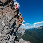 Mountaineer section near the peak of Mt Norquay