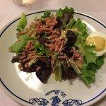 Salade œuf et allumettes