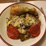Poulet avec son risotto