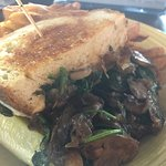 Mushroom, onion, spinach grilled cheese!