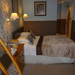 Our standard double room on the first floor. A lovely comfortable room, with everything provided