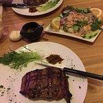 We always order rib eye steak 250gr,tuna salad,and fries,I loveee the tonijn salade/ tuna salad!