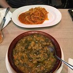 So delicious! Spicey spaghetti and the tastiest Ribollita (Tuscan stew) ever cooked.
