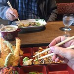 Mastering the chopsticks...kinda...Sushi Wara 2082 Comox Ave, Comox